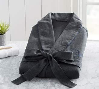 Pottery Barn Vincent Men's Flannel Bath Robe