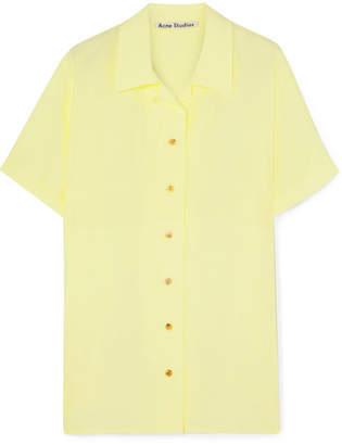 Acne Studios Rellah Crepe De Chine Shirt - Pastel yellow