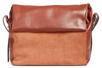 Allsaints Maya Calfskin Shoulder Bag - Brown $298 thestylecure.com