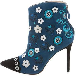 Isa Tapia Rumba Pointed-Toe Booties w/ Tags