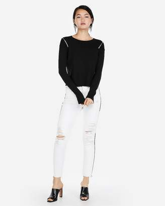 Express Zip Shoulder Sweater