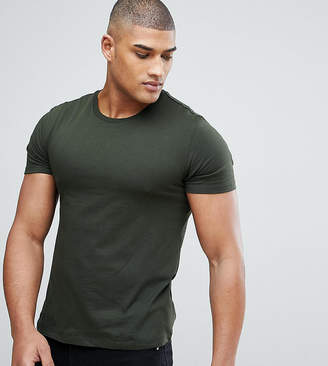 Burton Menswear Tall T-Shirt In Khaki