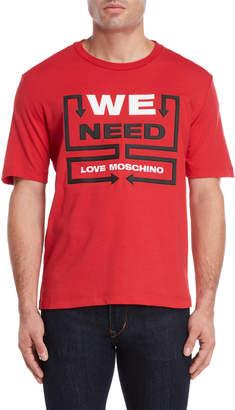 Love Moschino We Need Logo Tee