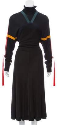 Burberry Long Sleeve Maxi Dress