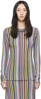 Marques Almeida Multicolor Striped Crewneck Sweater