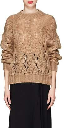 Prada Women's Cable-Knit Mohair-Blend Sweater - Camel