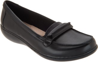 Clarks Leather Slip-On Loafers - Ashland Lily
