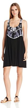 Lucky Brand Women's Half Moon Tie-Dye Cover-Up Dress $31.20 thestylecure.com