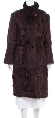 Cassin Belted Shearling Coat