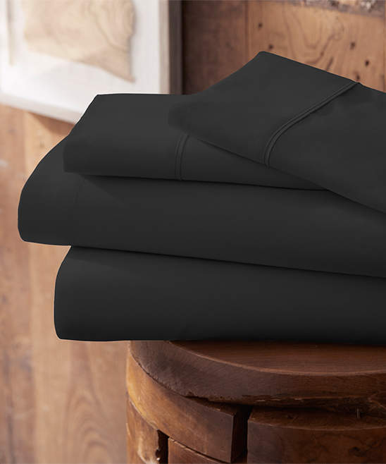 Black Ultra-Soft Brushed Microfiber Sheet Set