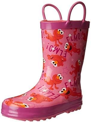 Sesame Street Girls' Kid's Character Licensed Rain Boots