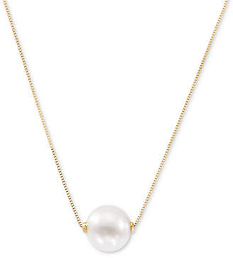 "Honora Cultured Freshwater Pearl (8-1/2mm) Solitaire 18"" Pendant Necklace in 14k Gold"
