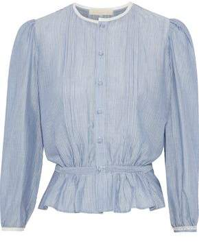 Vanessa Bruno Ikola Striped Cotton And Tencel-Blend Blouse