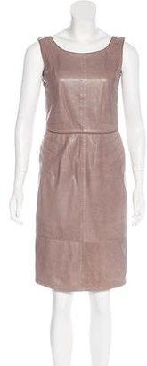 Armani Collezioni Leather Sheath Dress $145 thestylecure.com