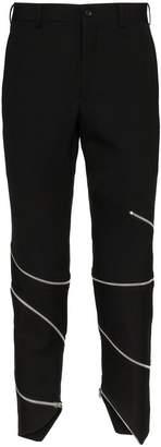 Comme des Garcons zip detail wool trousers