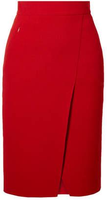 Akris Wrap-effect Wool-crepe Skirt