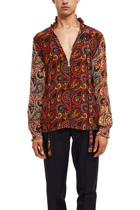 J.W.Anderson Paisley Zip Shirt