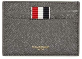 Thom Browne Stripe Leather Card Holder