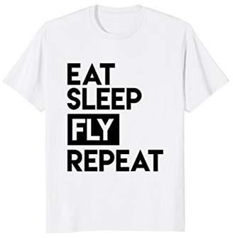 Fly London Eat Sleep Repeat Shirt - Funny Aviator T-Shirt for Pilot