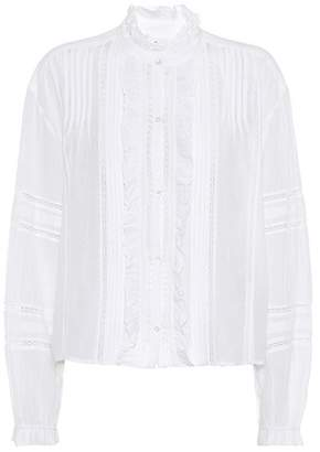 Etoile Isabel Marant Isabel Marant, Étoile Valda cotton-blend blouse