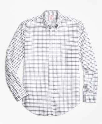 Brooks Brothers Madison Fit Oxford Multi-Check Sport Shirt