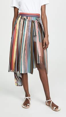 Monse Rainbow Apron Shorts