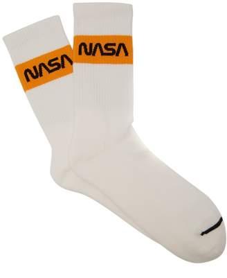 HERON PRESTON Ribbed cotton-blend socks