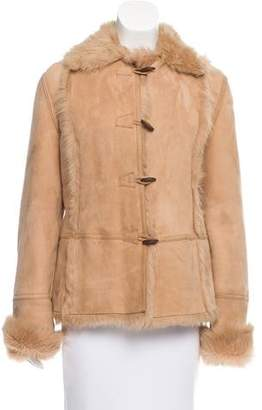 Post Card Pointed Collar Shearling Coat