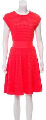 Christian Dior Cap-Sleeve Mini Dress