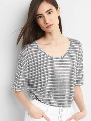 Gap Short Sleeve Linen Volume T-Shirt