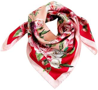 Dolce & Gabbana Roses Printed Silk Scarf