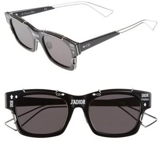 Women's Dior J'Adior 51Mm Sunglasses - Black/ Palladium $710 thestylecure.com