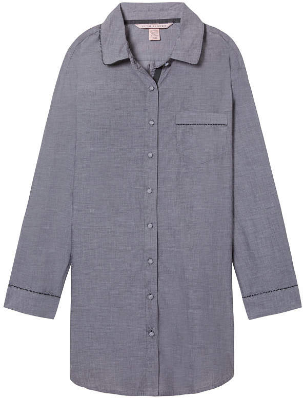 Lightweight Button-front Sleepshirt