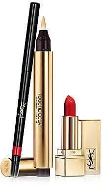 Yves Saint Laurent Women's Lip Essentials 3-Piece Kit - $91 Value