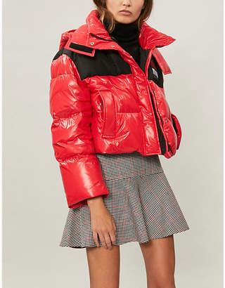Miu Miu Cropped shell-down puffer coat