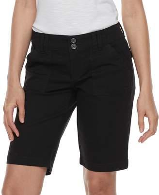 UNIONBAY Juniors' Blanche Solid Bermuda Shorts