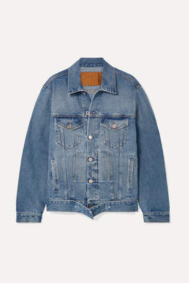 Vetements Distressed Denim Jacket - Blue
