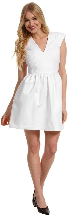 French Connection Unno Cotton Cap Dress (White) - Apparel
