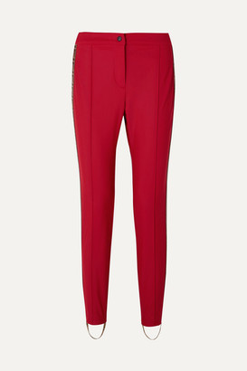 Fendi Roma Jacquard-trimmed Stirrup Ski Pants - Red