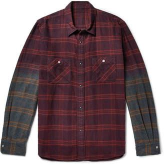 Sacai Dégradé Checked Cotton-Flannel Shirt