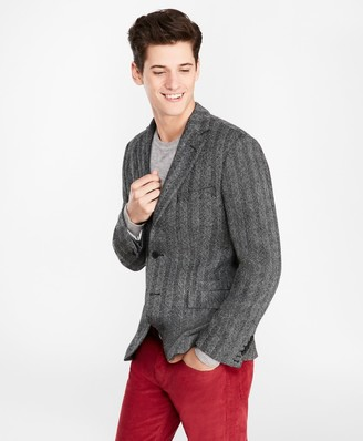 Brooks Brothers Two-Button Wool Herringbone Sport Coat