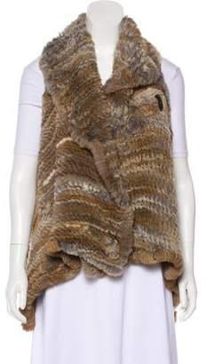 Adrienne Landau Fur Asymmetrical Vest