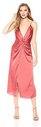 Keepsake The Label Women's Romance Sleeveless V Neck Draped Midi Dress