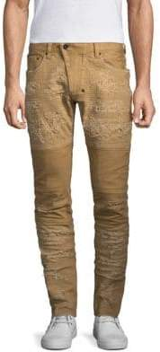 PRPS Windsor Distressed Moto Skinny Fit Jeans