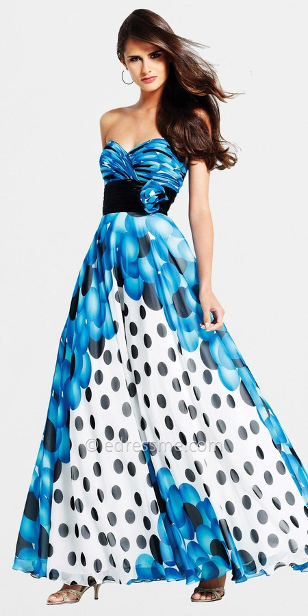 Polka Dot Ball Gown by Faviana