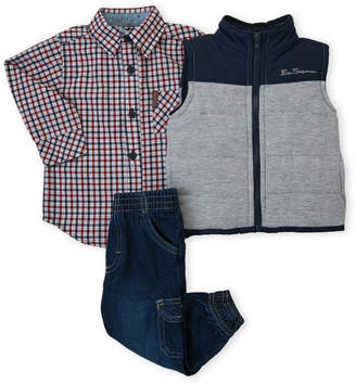 Ben Sherman Infant Boys) 3-Piece Quilted Vest Set