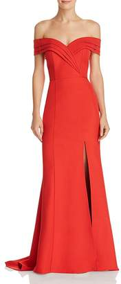 Jarlo Marisole Off-the-Shoulder Gown