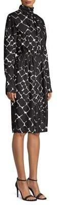 Marc Jacobs Printed Silk Sheath Dress