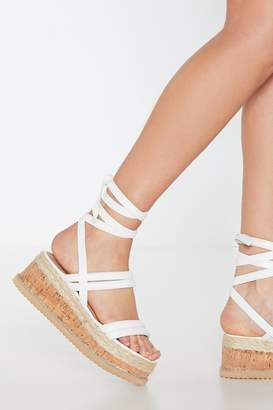 Nasty Gal Womens Step Outside Tube Wrap Sandals - White - 3, White