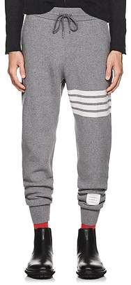 Thom Browne Men's Block-Striped Cashmere-Cotton Sweatpants